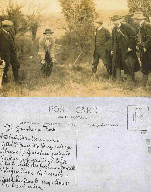 Carte postale fouilles à Villebramar